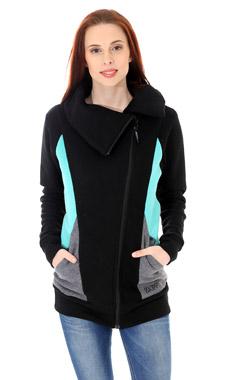 Mikino-kabátek black turquoise grey