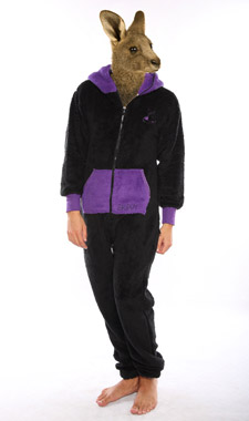 Skippy teddy black purple