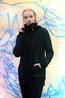 náhled - Mikino-kabátek black grey
