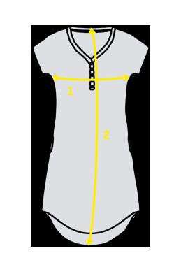 Přehled, kde se měří rozměry na dámských nočních košilí