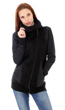 Mikino-kabátek black grey