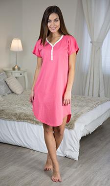 Dámská noční košile hot pink