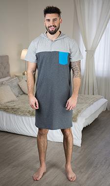 Pánská noční košile grey