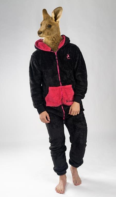 Skippy teddy black pink
