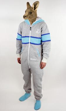Skippy grey blue strip
