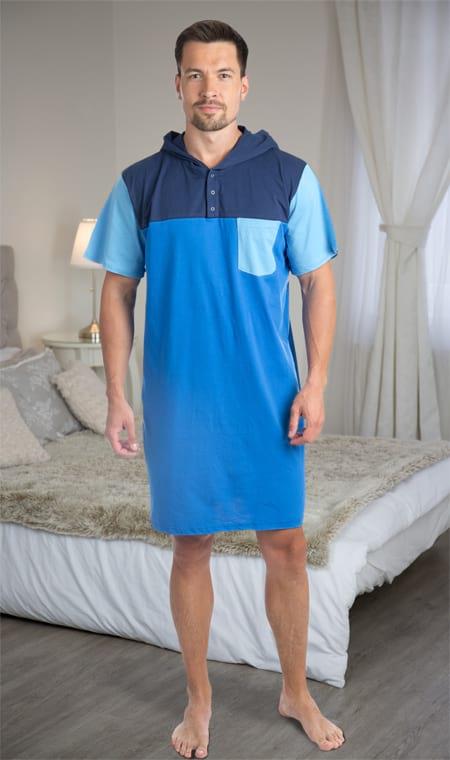 Pánská noční košile navy blue