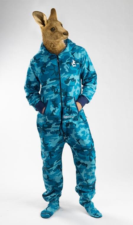 Skippy camo blue