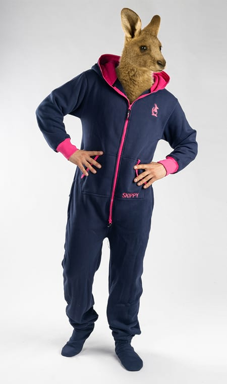 Skippy navy fuchsia